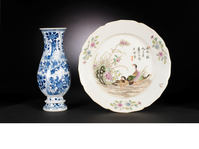 Two porcelain vessels