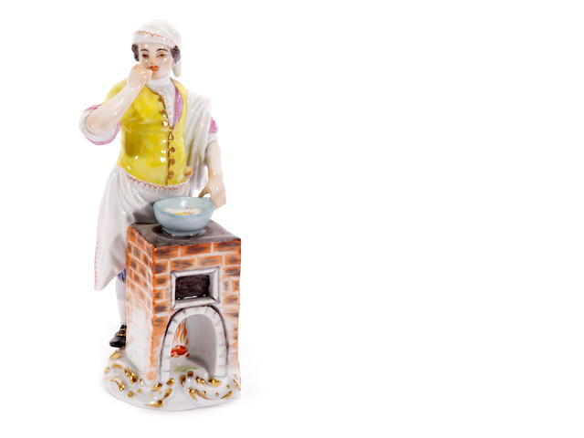 A Meissen figure from the 'Cris de Paris' series, 20th century