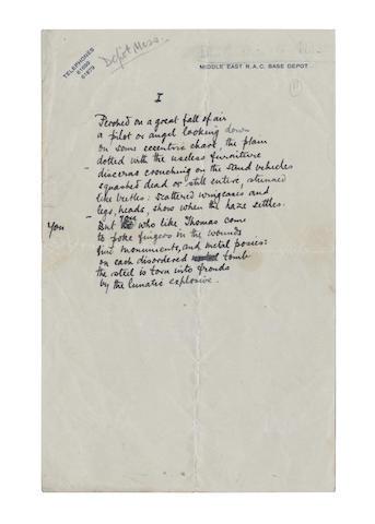 DOUGLAS, KEITH (1920-1944, poet)