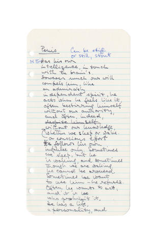 KIRKUP, JAMES (1918-2009) AUTOGRAPH DRAFT OF HIS SEQUENCE OF TWENTY POEMS ENTITLED 'A LITTLE TREATISE OF ANATOMY'; and another