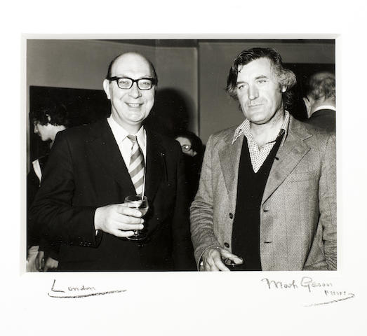 LARKIN, PHILIP (1922-1985) and TED HUGHES (1930-1998), JOINT PORTRAIT BY MARK GERSON, [1977]