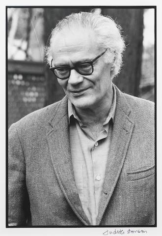 LOWELL, ROBERT (1917-1977, American poet), PORTRAIT BY JUDITH ARONSON, 1977