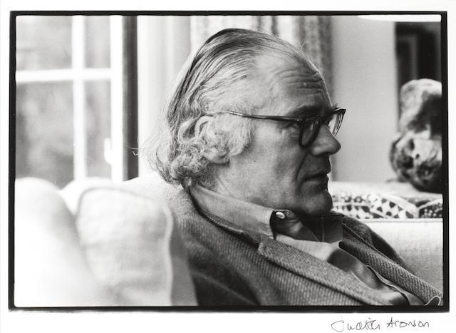 LOWELL, ROBERT (1917-1977, American Poet) PORTRAIT BY JUDITH ARONSON, 1977