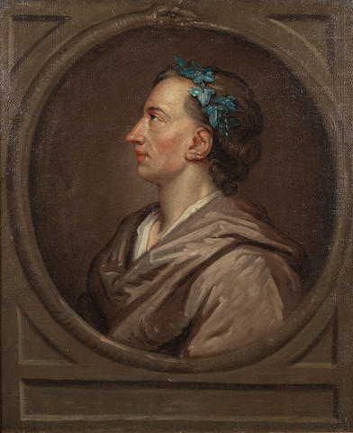 POPE, ALEXANDER (1688-1744) PORTRAIT AFTER SIR GODFREY KNELLER, [c. 1721]