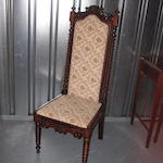 A Victorian rosewood hall chair