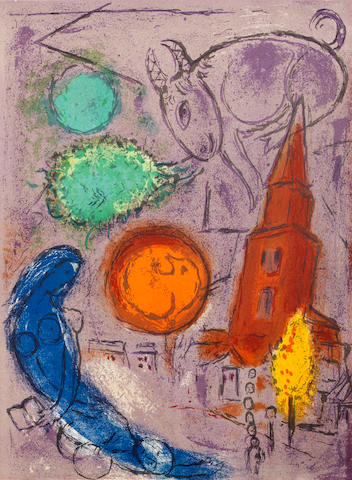 Marc Chagall (Russian/French, 1887-1985) Derriere le Miroir Colour lithograph