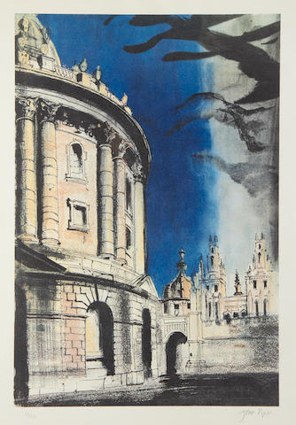 John Piper CH (British, 1903-1992) Radcliffe Camera Offset lithograph printed in colours, 1981, on Arches, signed and numbered 41/150 in pecil, printed by Senecio Press, published by Oxford Museum of Modern Art, 530 x 355mm (20 3/4 x 14in)(I)