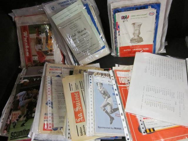 A large collection of 1950's to 1990's various clubs programmes