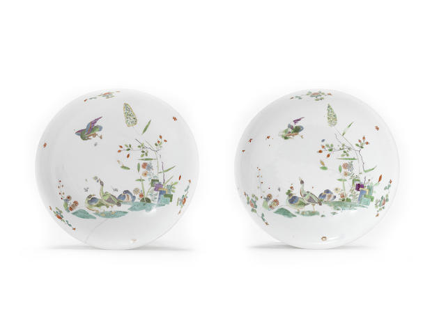 Two extremely rare Meissen dishes, circa 1730-35