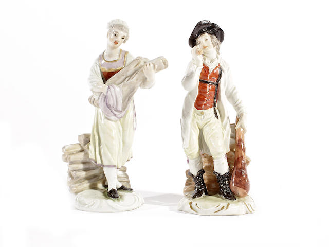 A pair of Ludwigsburg figures of woodcutters, circa 1775