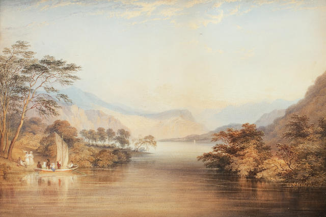 Charles Frederick Buckley (British, 1812-1869) Loch Katerine, Evening