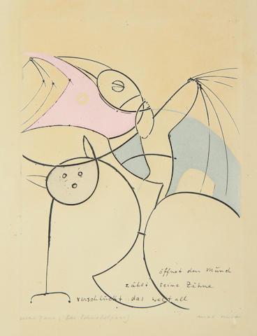 Max Ernst (German, 1891-1976) Das Schnabelpaar (Plate 6)