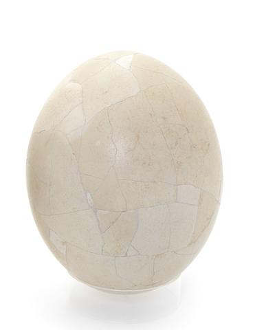 A large reconstructed Elephant Bird Egg (Aepyomis Maximus)