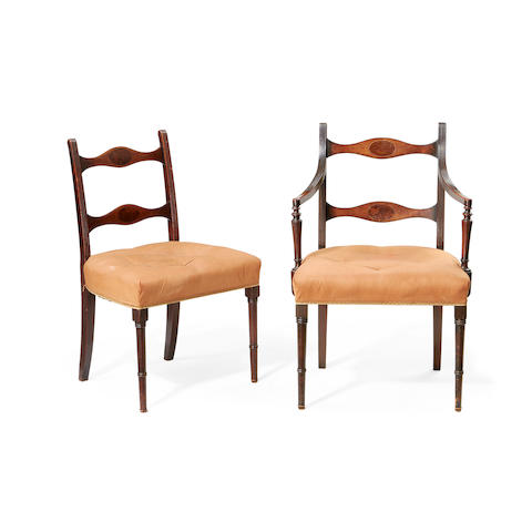 A set of eight early 19th century mahogany dining chairs