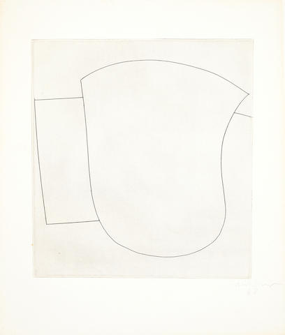 Ben Nicholson O.M. (British, 1894-1982) Two Sculptural Forms Etching, 1968, signed and numbered 41/50 in pencil