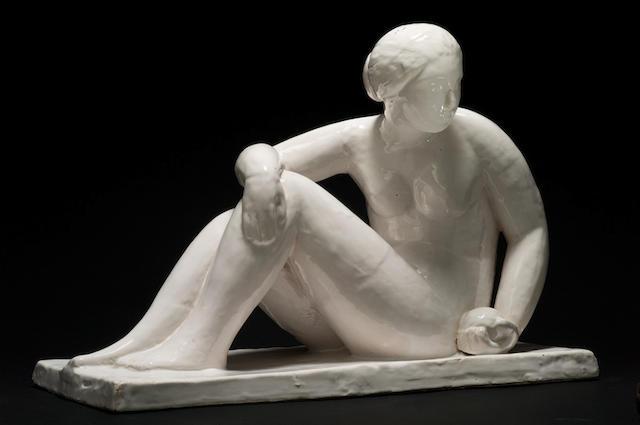 Roger de la Fresnaye (1885-1925) pour Süe et Mare 'Femme nue assise'