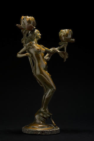 Maurice Bouval (1863–1920) 'Jeune fille aux Pavots'