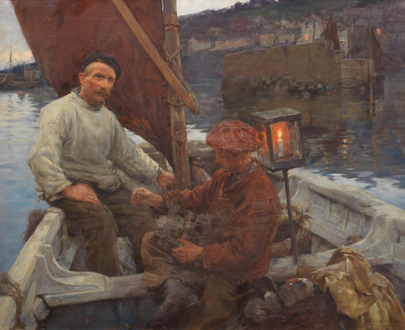 Stanhope Alexander Forbes, RA (British, 1857-1947) Out into the deep dark