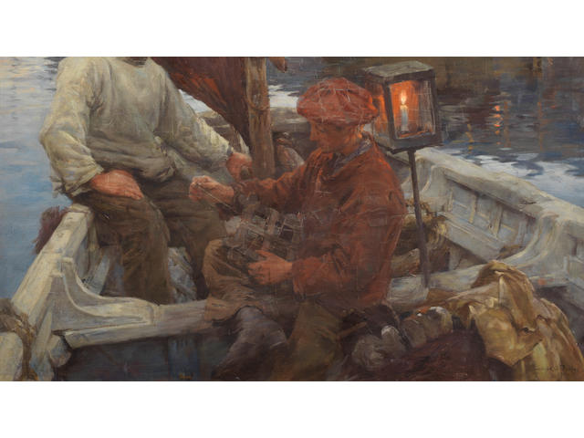 Stanhope Alexander Forbes, RA (British, 1857-1947) Out into the dark and silence