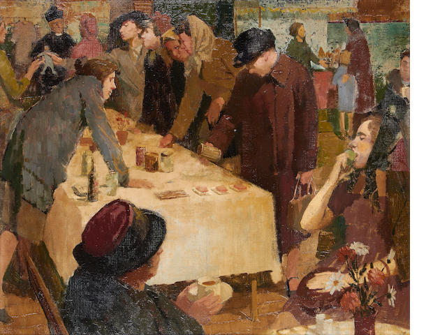 Norman Blamey (British, 1914-2000) The Parish Bazaar