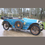 1914  Darracq  Type V14 16hp Tourer  Chassis no. 30119  Engine no. 36912