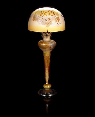 Galle cameo lamp and shade