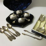 A set of four Edwardian silver salts, by Mappin and Webb Sheffield 1902,  (Qty)