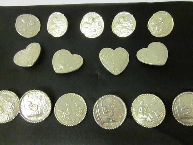 A set of six German coat buttons, Sheffield import mark 1899  (15)