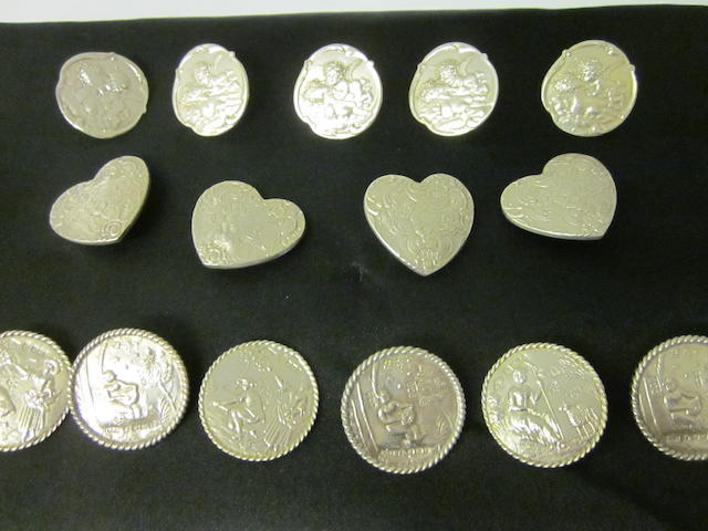 A set of six German coat buttons, Sheffield import mark 1899  (15)