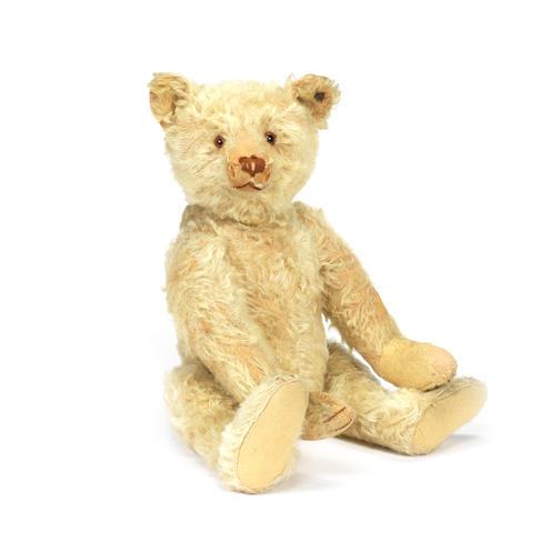 White mohair Steiff Teddy bear, circa 1920