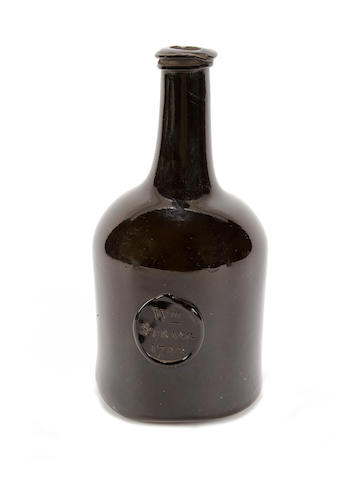 A sealed and dated wine bottle, dated 1788