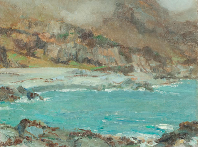 Alan Ian Ronald, RSW (British, 1899-1967) Rolling mist at Lochbuie Mull