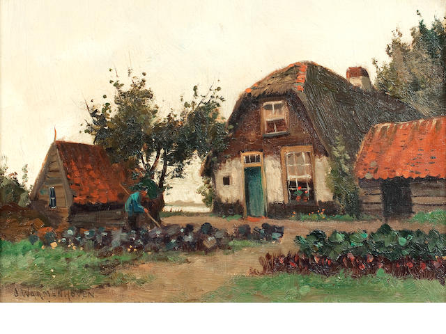 J* Warmenhoven, (20th century) Tending the crops