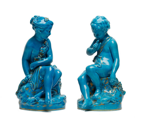 A pair of Sèvres-style figures, 19th century