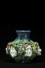 Antonin Larroux (1859-1937) pour Goldscheider Vase en faience émaillée, circa 1900