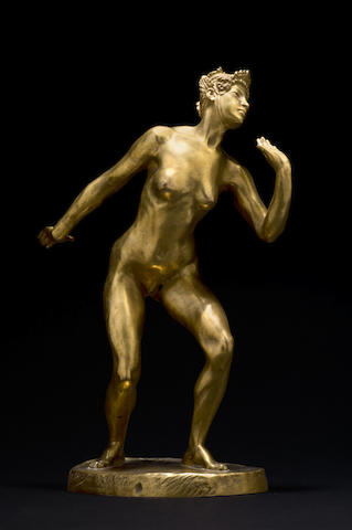 Jacques Loysel 'Anako' a Gilt-bronze Sculpture, circa 1920