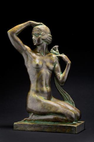 Joseph J. Emmanuel (Descombs) Cormier (1869-1950) 'La Femme au Lotus'