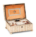 An Anglo-Indian stag antler workbox