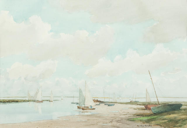 Martin Hardie CBE RE RSW Hon RWS (British, 1875-1952) Flutter of Sails, Blakeney
