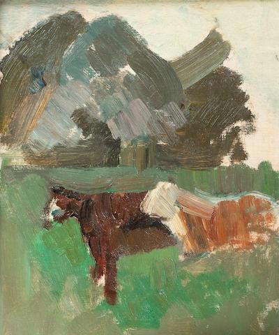 Earl George Alexander Eugene Douglas Haig, OBE ARSA FRSA (British, 1918-2009) Cattle at Bemersyde