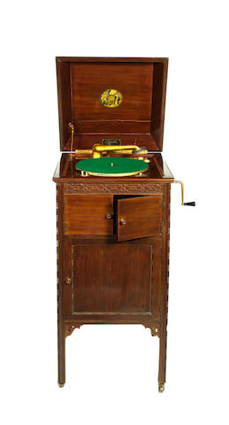 A Cliftophone cabinet grand gramophone,