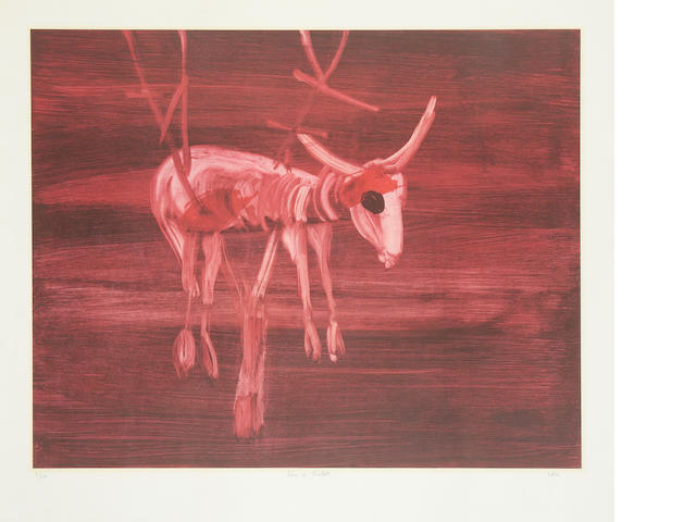Sidney Nolan (Australian, 1917-1992) Desert landscape; Dalila, Ram in the thicket; Night four prints