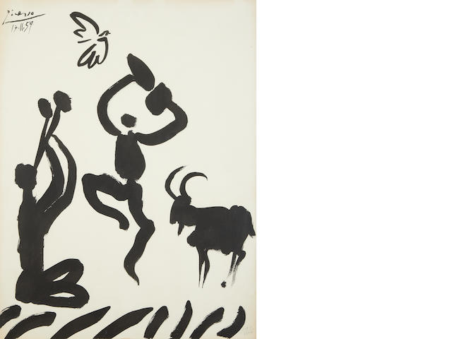 After Pablo Picasso La Danse du Berger lithograph, 1959, numbered 1597/2000 in pencil, x 660 x 500mm (26 x 19 3/4in)(SH)