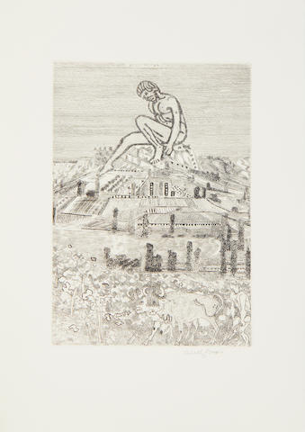 Anthony Gross (British, 1905-1984) Sixe Idyllia of Theocritus the folio including eight etchings, 1971, the final states, each signed in pencil, the folio numbered 'V' on the justification, one of 135 copies including sets of signed prints, printed by Clover Hill, published by Chillmark Press Ltd, 340 x 250mm (13 1/2 x 9 3/4in)(folio)
