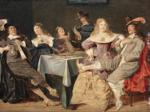 Studio of Dirck Hals (Haarlem circa 1591-1656) An elegant company merrymaking