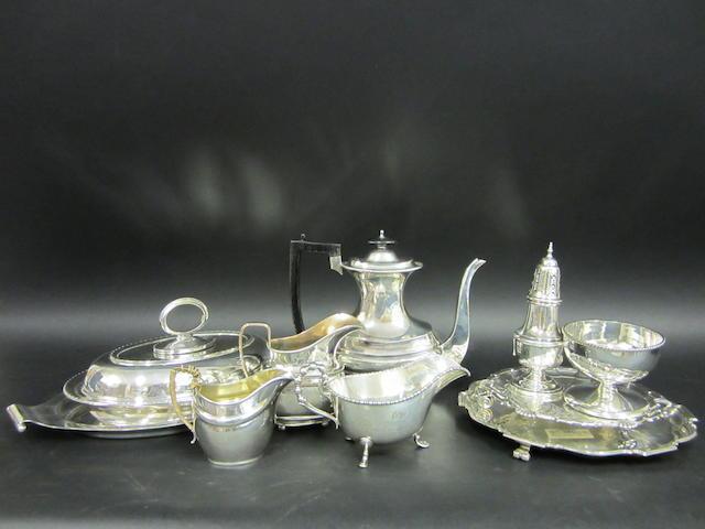 A George IV silver coffee pot Birmingham 1820