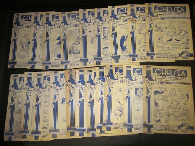 1938/39 Chelsea home programmes