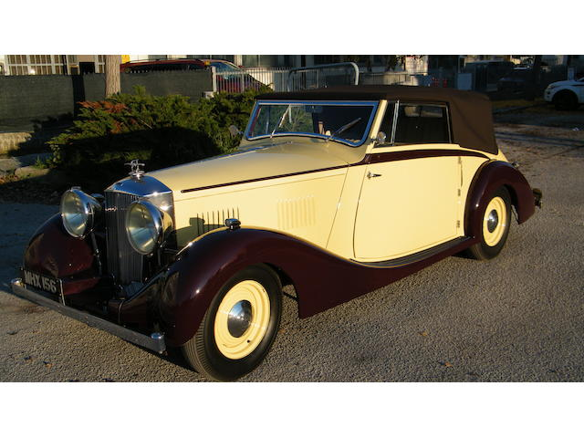 1938 Railton Straight EIght Fairmile Series III Three Position Drophead Coupe
