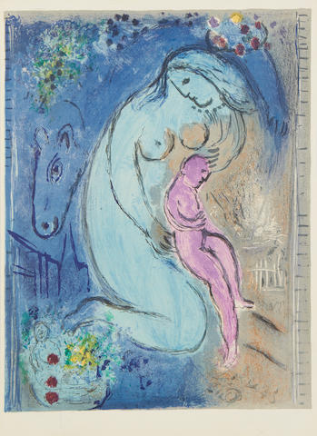 Marc Chagall (Russian/French, 1887-1985) Quai aux Fleurs, from Derrière Le Miroir Lithograph printed in colours, 1954, on wove, from the edition of 2500, printed by Mourlot Frères, published by Maeght Editeur, Paris, 383 x 278mm (15 1/8 x 10 7/8in)(SH) unframed