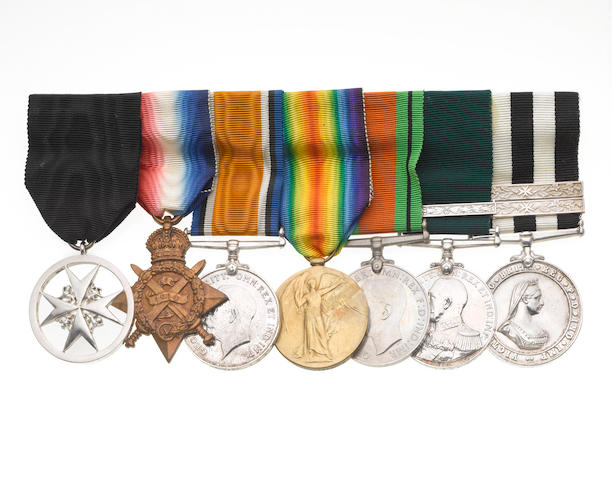 An Order of St.John group of seven to W.W.Goddard, St.John Ambulance Brigade and Royal Naval Auxiliary Sick Berth Reserve,